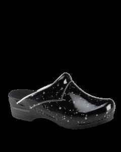 DIAMOND - sølv og sort farvet skridsikker træsko -Sanita SRC