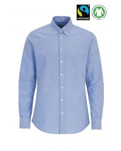 Fairtrade Organic bomulds Herreskjorte - Lys blå