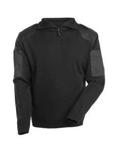 Striktrøje med kort lynlås forstærkninger - uld NANTERRE | MASCOT®