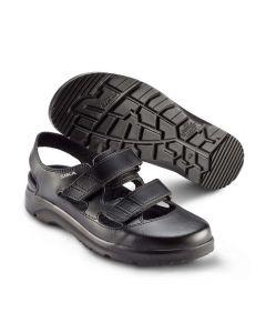 OPTIMAX sort str 37 OG 42 skridsikre sandal UDGÅR