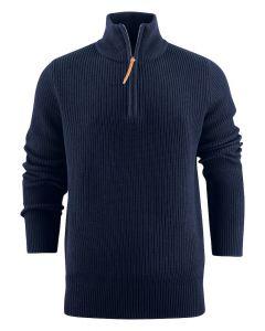 Flatwillow James HARVEST Heavy strik cardigan  Navy farvet