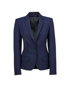 Royal blå stretch dame blazer jakke