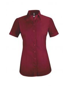 Bordeaux farvet dameskjorte