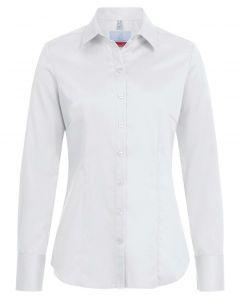 Hvid stretch strygefri dameskjorte