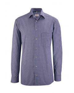 Mørkblå & hvid ternet herreskjorte
