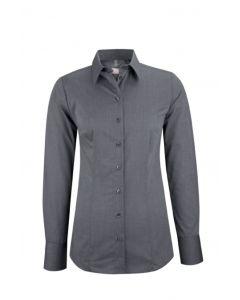 Koksgrå fil a fil dameskjorte - strygefri - UDGÅR