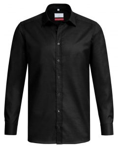 Stretch Sort skjorte til mænd - Ekslusiv 'Modern 37.5' Reg. Fit