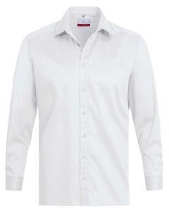 Hvid stretch strygefri herreskjorte