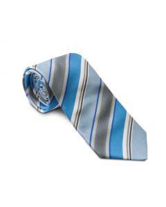 Slips - blå /grå stribet