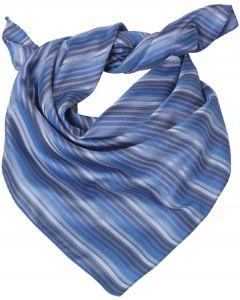 Dame Tørklæde / sjal blå tynd stribet