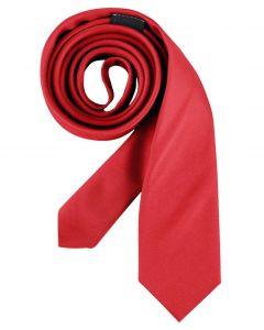 Slimline rødt slips