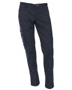Navy blå cargo bukser med lårlomme