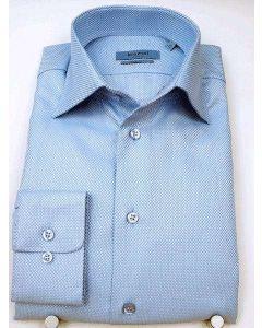 Bomulds struktur skjorte - Blå, Classic Fit 100% bomuld