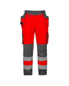 Refleksbuks Rød- grå F.Engel EN 20471 M/Hængelomme Kl. 2 UDGÅR -Begrænset antal tilbage