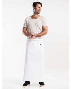 Hvidt forstykke 100cm langt med en stor lomme BSX - UDGÅR