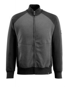 Sort-grå Sweatshirt med lynlås AMBERG | MASCOT® UNIQUE