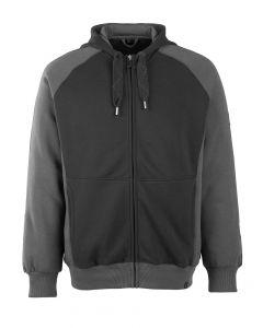 Sort og grå Hættetrøje med lynlås WIESBADEN | MASCOT® UNIQUE