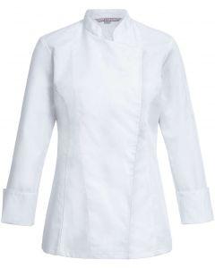 Elegant hvid dame kokkejakke
