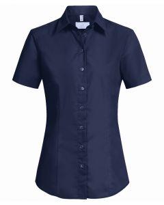 Kortærmet Navyblå Dame stretch skjorte R. Fit