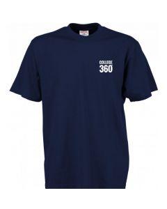 TEK & BYG navyblå t-shirt - med COLLEGE360 logo