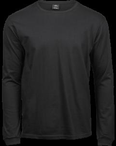 Langærmet Fashion sof Tee t-shirt - Vælg sort eller hvid t-shirt