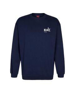 Navyblå sweatshirt med KOLD college logo tryk