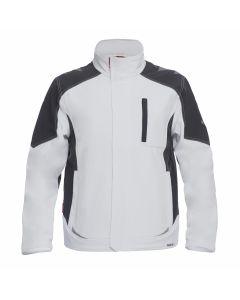 Hvid m. koksgrå Galaxy softshell jakke fra F.Engel