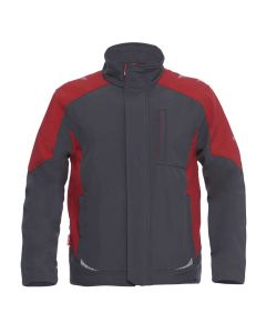 Koksgrå m. rød Galaxy softshell jakke fra F.Engel