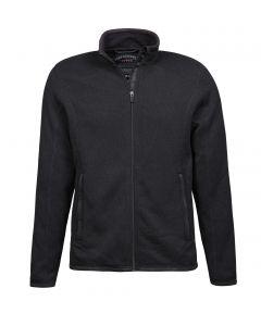 Sort fleece jakke