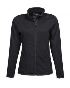 Sort dame fleece jakke