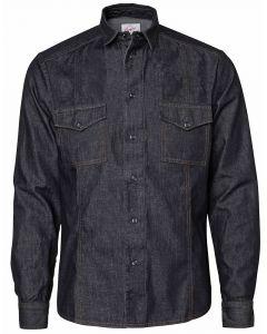 Garment vasket denim herreskjorte RESTSALG