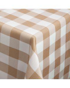 Beige og hvid ternet stofdug 100x100 cm