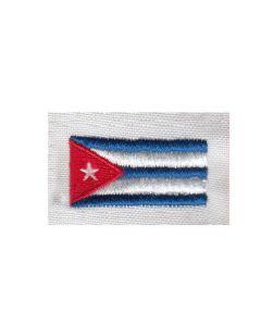Brodering af Cuba flag 2stk