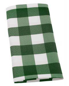 Grøn og hvid ternet stof servietter 50x50cm, pk6stk