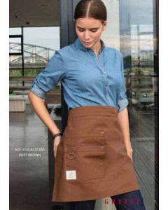 Canvas RUST brunt forstykke med div. lommer. Fairtrade og genbrugs udviklet