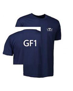 TEK & BYG navyblå t-shirt - med Tradium logo