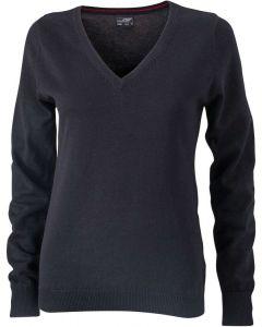 Dame pullover langærmet -sort