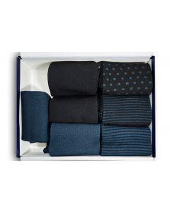 Midnight blue - 45-48 7pk Bambusstrømper