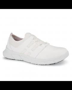 Karina -skridsikker sko med elastik -Hvid