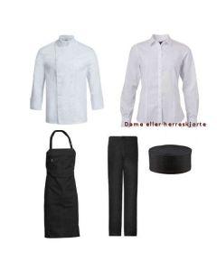 Uniformspakke til kok/tjener