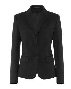 Basic Stretch dame blazer sort Comfort Fit - RESTSALG str 34,36,52