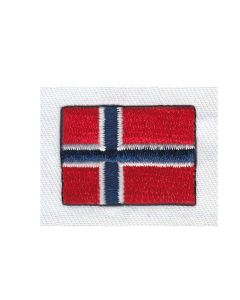 Brodering af det Norske flag 2stk