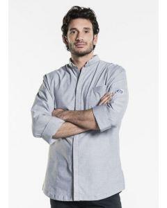 Grå kokkeskjorte