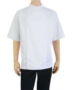 Komfort kortærmet hvid kokkejakke str XXLarge - UDGÅR