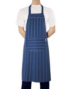Ekstra stort blåt forklæde