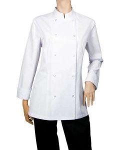 Dame kokkejakke Poco hvid