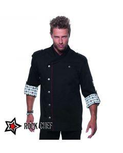 ROCK CHEF - HERRE Kokkejakken med attitude - rå og cool - RCJM 2