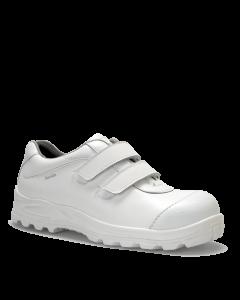 Hvid San Food S2 sko med velcro- tåværn og skridsikre UDGÅR str 43