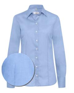 Figursyet dameskjorte blå - strygefri - str 48 1 stk tilbage UDGÅR