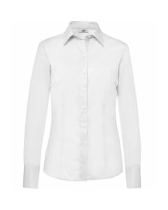 Hvid figursyet dameskjorte - strygefri. Premium få antal og str. tilbage - RESTSALG